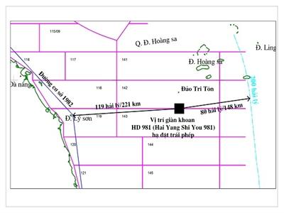 Tập đoàn Dầu khí: Vị trí lô 142 - 143 từng được phía Việt Nam khảo sát từ năm 1972
