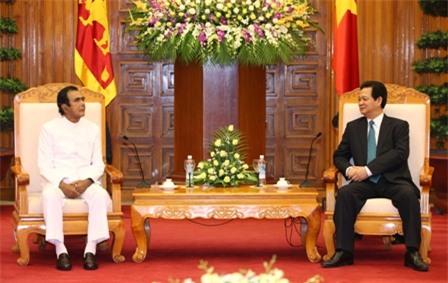 Thủ tướng Nguyễn Tấn Dũng hội kiến với Thủ tướng Sri Lanka