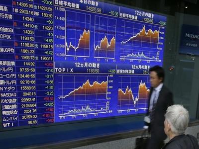 Chứng khoán châu Á lên đỉnh cao nhất trong 4 tháng