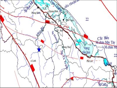 Động đất 4,7 độ richter tại A Lưới: Huế và Quảng Trị rung chấn