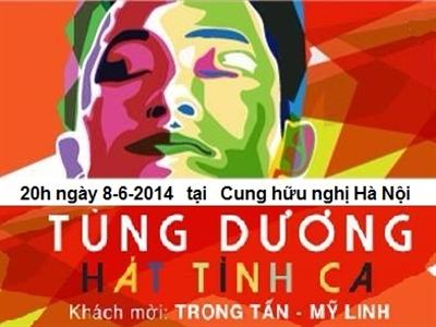 Tùng Dương hát tình ca ở Hà Nội