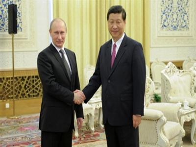 Tổng thống Nga và chủ tịch Trung Quốc dự khai mạc tập trận chung