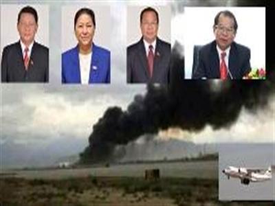 Bộ trưởng Quốc phòng, Công an Lào có mặt trên máy bay bị rơi