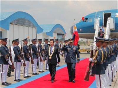 Những hình ảnh đầu tiên về chuyến thăm, làm việc của Thủ tướng tại Philippines