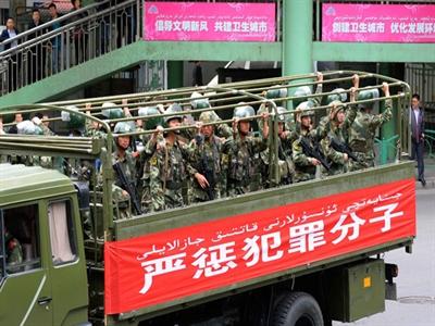 Trung Quốc mở chiến dịch trấn áp khủng bố ở Tân Cương