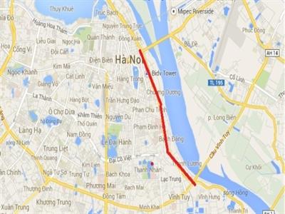 Hà Nội mở rộng đường đê từ cầu Chương Dương đến cầu Vĩnh Tuy