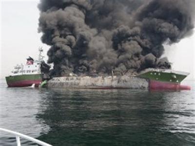 Nổ tàu dầu trọng tải lớn ngoài khơi bờ biển Nhật Bản