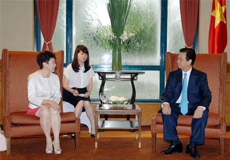 Thủ tướng Nguyễn Tấn Dũng tiếp Hội thương gia Đài Loan tại Việt Nam