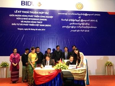 BIDV ký thỏa thuận hợp tác với ngân hàng Myanmar