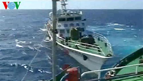 Tàu Trung Quốc xuất hiện dày đặc, đâm va cản phá tàu Việt Nam