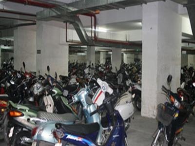 Cư dân có xe máy không phải nộp phí bảo trì tầng hầm chung cư