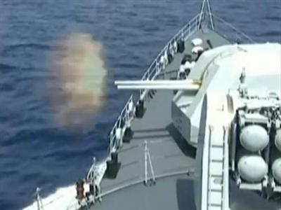 Trung Quốc tập trận bắn đạn thật trên biển
