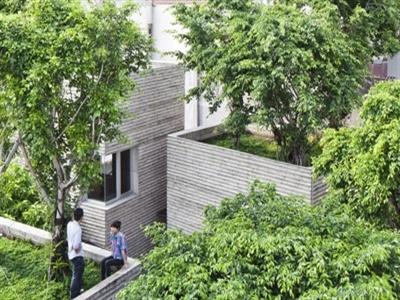 Khu nhà 5 khối phủ cây xanh ở Sài Gòn đoạt giải quốc tế
