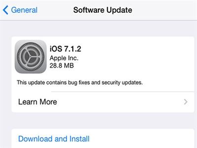 Apple cung cấp bản iOS 7.1.2 và OS X 10.9.4