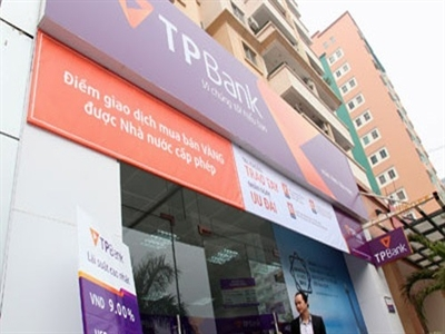 TPBank lãi 263 tỷ đồng trong 6 tháng đầu năm