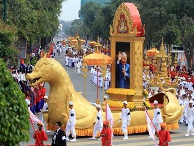 Campuchia tổ chức nghi lễ rước tro cựu Vương Norodom Sihanouk