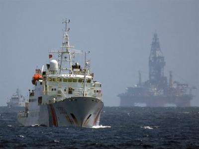 Giàn khoan Nam Hải 04 hoạt động ở biển Đông trong một năm