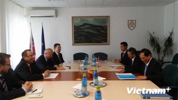 Thứ trưởng Ngoại giao Bùi Thanh Sơn tham vấn chính trị tại Slovakia