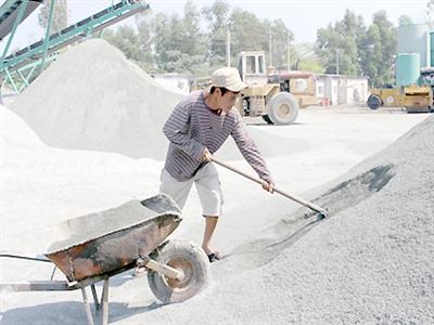 Đá xây dựng tăng từ 5-15% từ cuối tháng 6