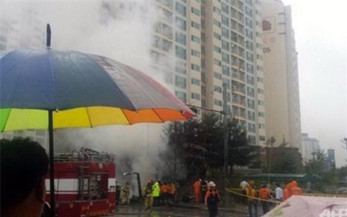 Trực thăng Hàn Quốc rơi, 5 người thiệt mạng