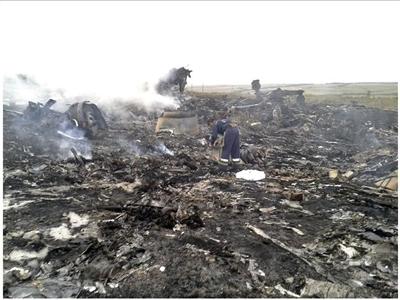 Những hình ảnh đầu tiên tại khu vực máy bay Malaysia Airlines rơi
