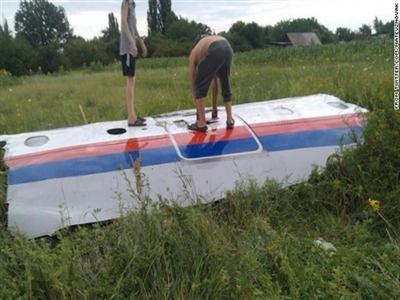 Máy bay MH17 của Malaysia Airlines rơi ở Ukraine