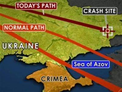 Malaysia bác tin MH17 bay lệch hướng
