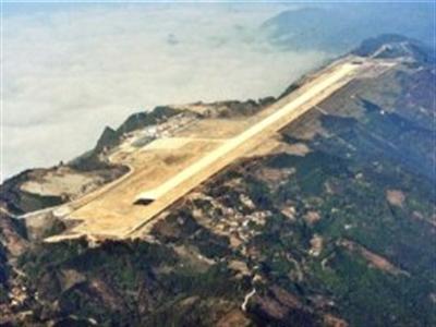 Trung Quốc xây sân bay trên đỉnh núi cao gần 700m