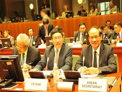 Việt Nam lần đầu chủ trì Hội nghị Bộ trưởng Ngoại giao ASEAN-EU