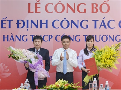 VietinBank bổ nhiệm 2 trưởng phòng Trụ sở chính