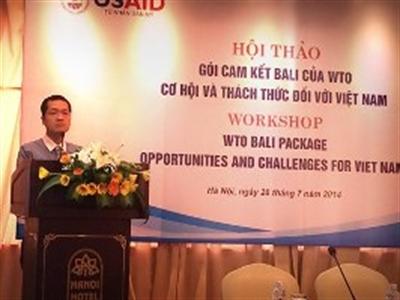 Việt Nam hưởng lợi gì trong gói Bali