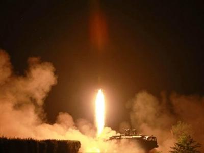 """""""Triều Tiên bắn 4 rocket tầm ngắn từ bệ phóng rocket đa nòng"""""""