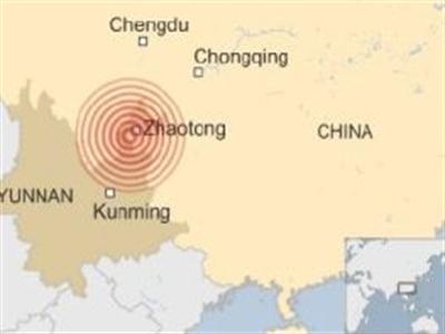 Chùm ảnh: Động đất khiến hơn 370 người thiệt mạng ở Trung Quốc