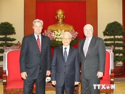 Tổng Bí thư Nguyễn Phú Trọng tiếp đoàn Thượng viện Hoa Kỳ