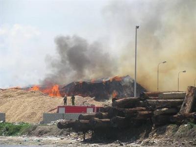 Cháy lớn tại cảng Quy Nhơn