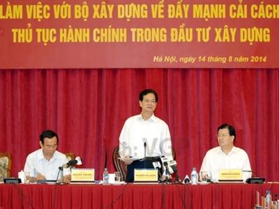 Thủ tướng chỉ đạo cắt giảm thời gian thực hiện thủ tục hành chính về đầu tư xây dựng