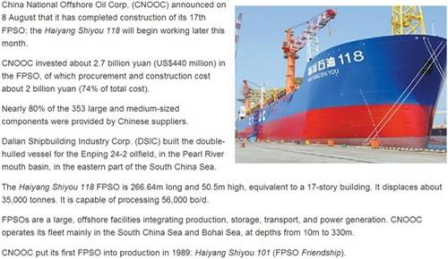 Trung Quốc sắp tung hạm đội 'nhà máy lọc dầu trên biển' ra biển Đông