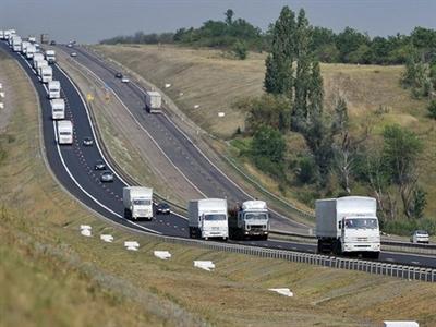 Ukraine bắt đầu kiểm tra đoàn xe chở hàng viện trợ của Nga