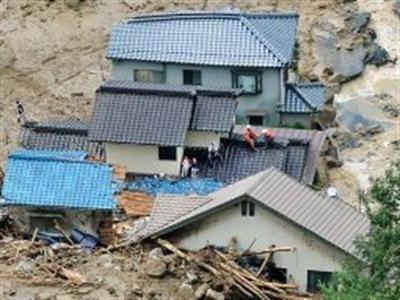 Sạt lở đất ở Nhật Bản, ít nhất 27 người thiệt mạng