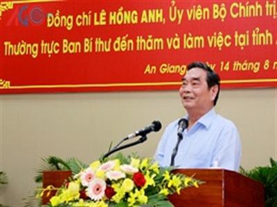 Ông Lê Hồng Anh thăm Trung Quốc