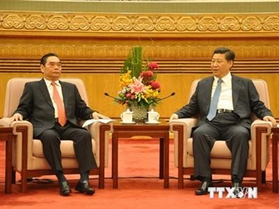 Đồng chí Lê Hồng Anh hội kiến Tổng Bí thư, Chủ tịch Trung Quốc Tập Cận Bình