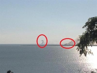 Phe ly khai Ukraine đốt tàu tuần dương: Chiến sự lan ra biển!