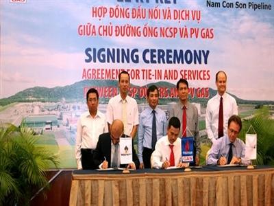 GAS ký hợp đồng đấu nối đường ống dẫn khí Nam Côn Sơn