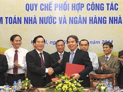 Kiểm toán Nhà nước và NHNN ký quy chế phối hợp công tác