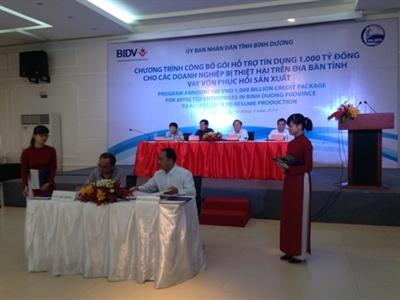 BIDV dành 1.000 tỷ đồng cho doanh nghiệp Bình Dương vay ưu đãi