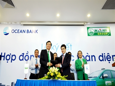 OceanBank và Taxi Mai Linh ký hợp đồng hợp tác toàn diện