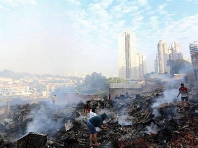 Hỏa hoạn thiêu rụi khu ổ chuột ở Sao Paulo