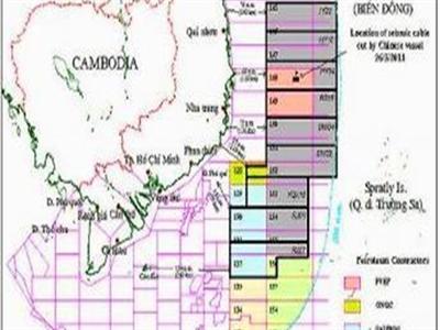 Trung Quốc lại mời thầu các lô dầu khí ở Biển Đông