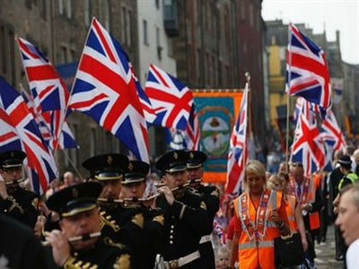Phe Tin Lành biểu tình rầm rộ phản đối Scotland tách khỏi nước Anh
