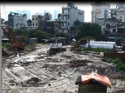 Hà Nội: Đình chỉ thi công dự án T&T Vĩnh Hưng